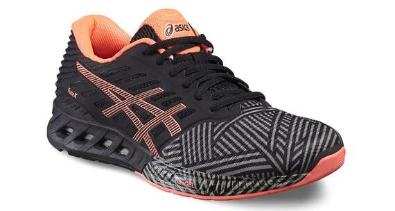 asics fuzeX Shoe Women Aluminum/Flash Coral/Black